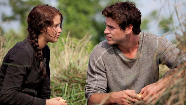 """Liam Hemsworth playing a teenager in """"The Hunger Games"""""""