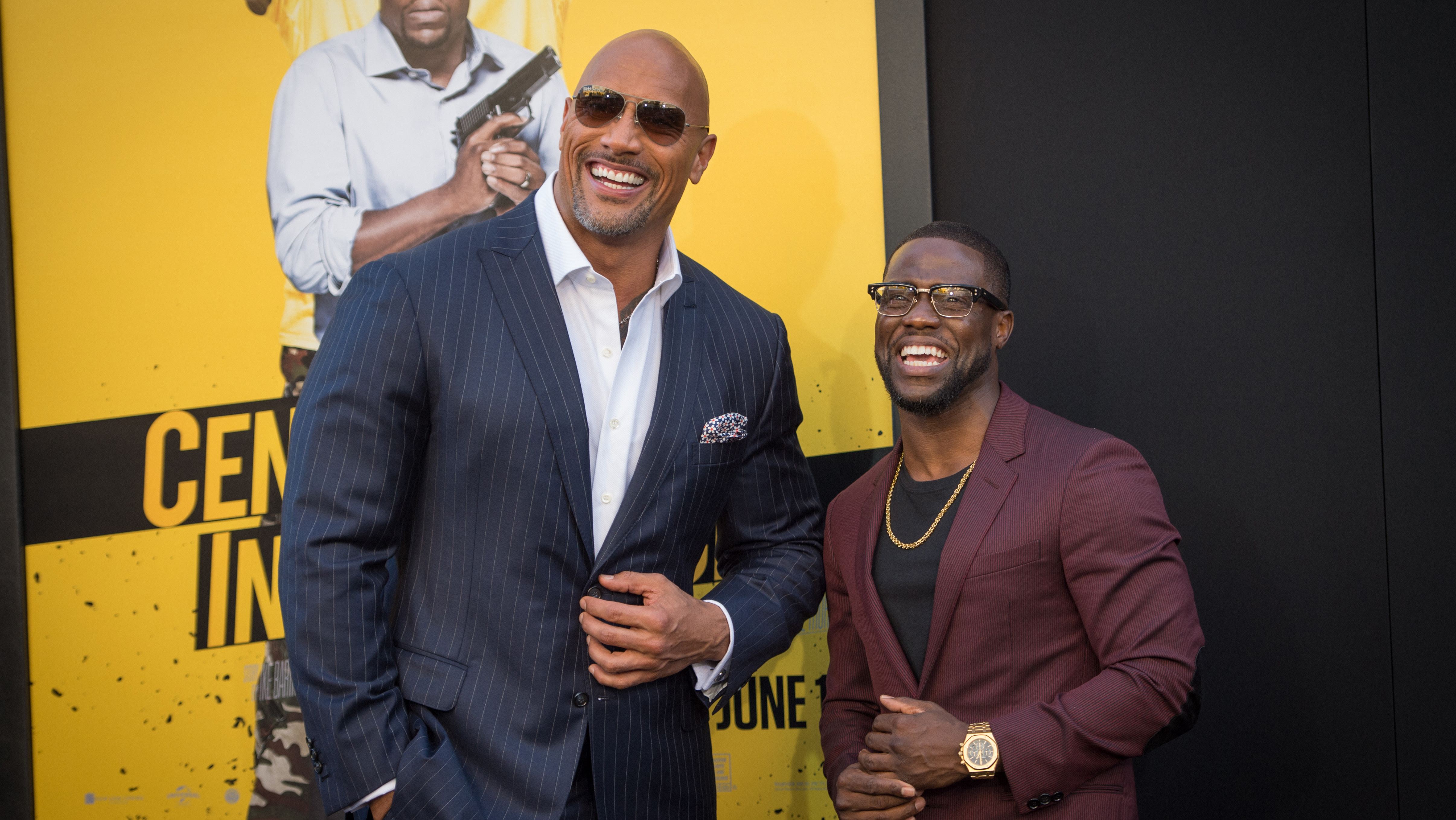 Kevin Hart Dwayne Johnson Talk Their Brotherly Chemistry At Central Intelligence Premiere The Hollywood Reporter
