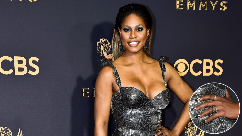 Laverne Cox Emmys 2017 manicure - The Hollywood Reporter