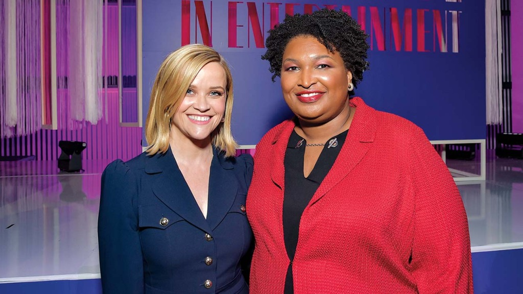Abrams and Reese Witherspoon at THR's Women in Entertainment event last year.