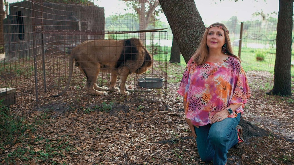 Carole Baskin, the owner of Big Cat Rescue and rival of Joe Exotic in 'Tiger King.'