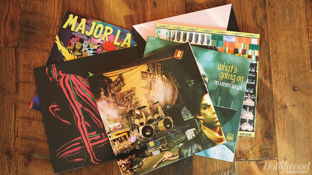 The exec keeps a record player behind her desk, and her vinyl collection includes A Tribe Called Quest and Prince.