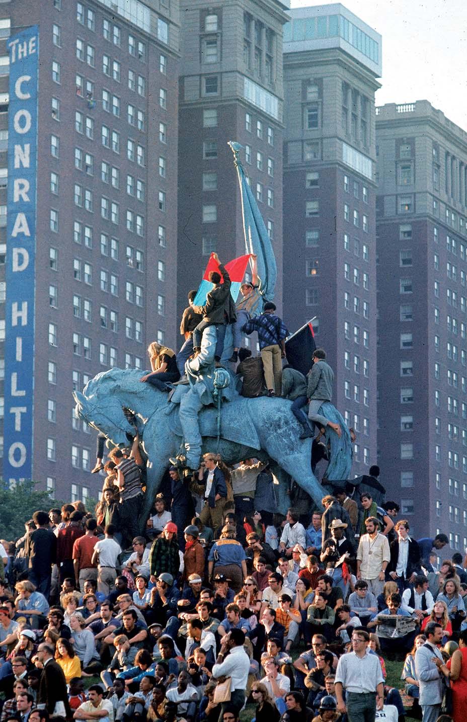 Chicago protestors - 1968 Democratic National Convention
