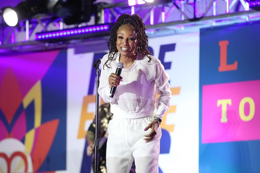 Siedah Garrett performs onstage at the 27th Annual Race To Erase MS: Drive-In To Erase MS at Rose Bowl on September 04, 2020 in Pasadena, California.
