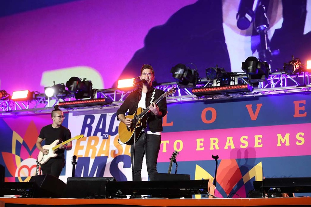 Andy Grammer performs onstage at the 27th Annual Race To Erase MS: Drive-In To Erase MS at Rose Bowl on September 04, 2020 in Pasadena, California.