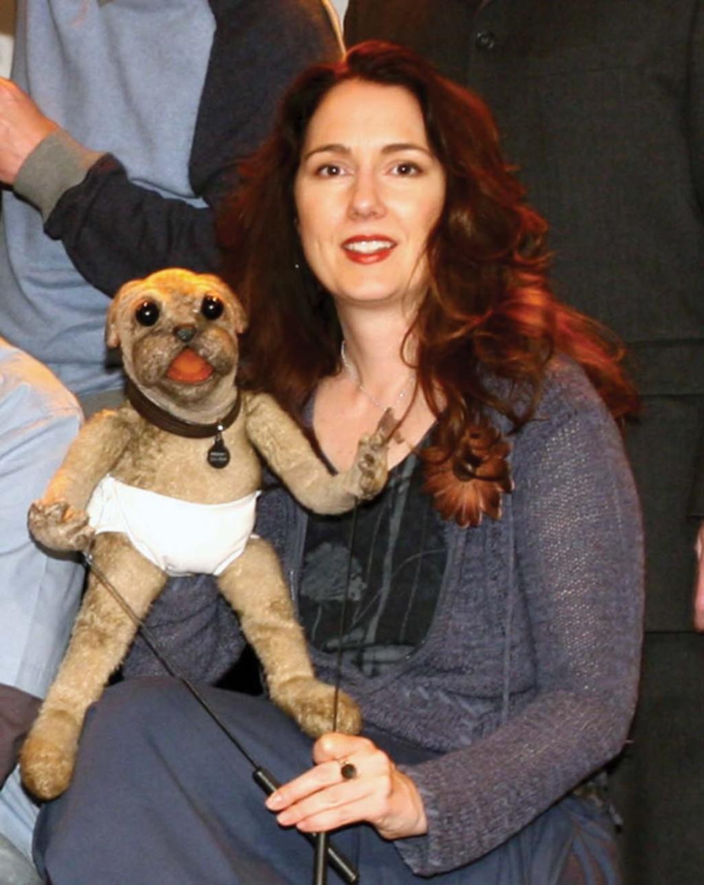 Julianne Buescher, the puppeteer for Beverly Plume.