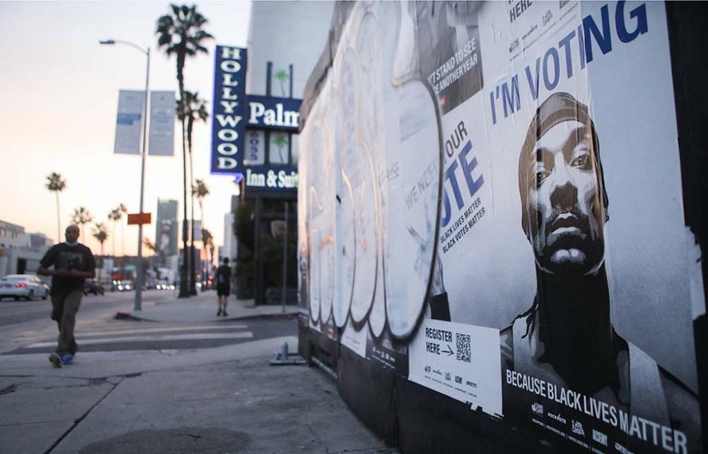 "Snoop Dogg -""Vote"" Murals Spring Up Around Los Angeles"