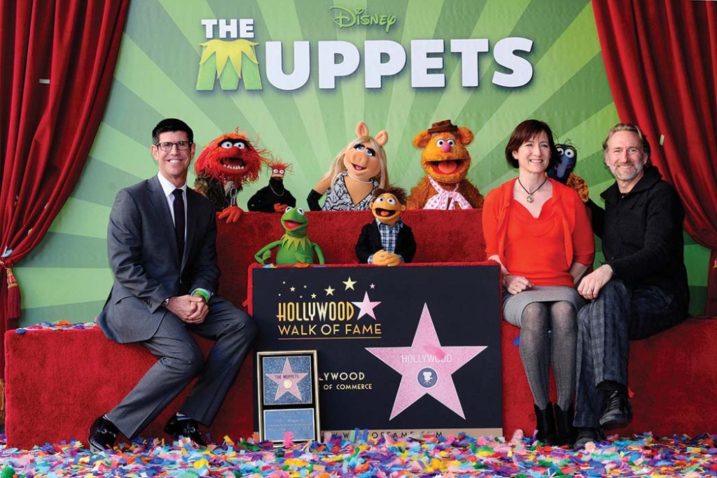Former Disney Studios head Rich Ross (left), Lisa Henson and Brian Henson attended the 2012 Muppets Walk of Fame Star ceremony.