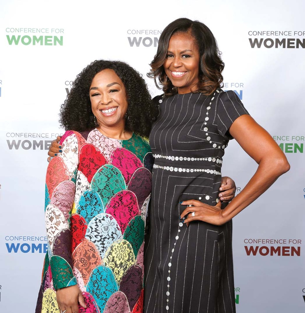 Shonda Rhimes and Former First Lady of the United States Michelle Obama