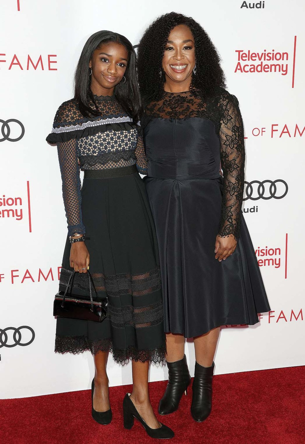 Shonda Rhimes and her daughter
