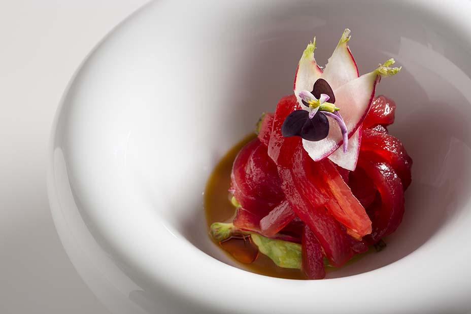 Yellowfin tuna noodles