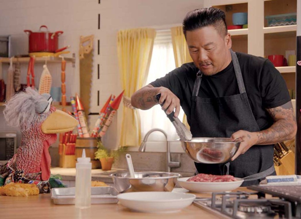 Muppet Beverly Plume and Roy Choi