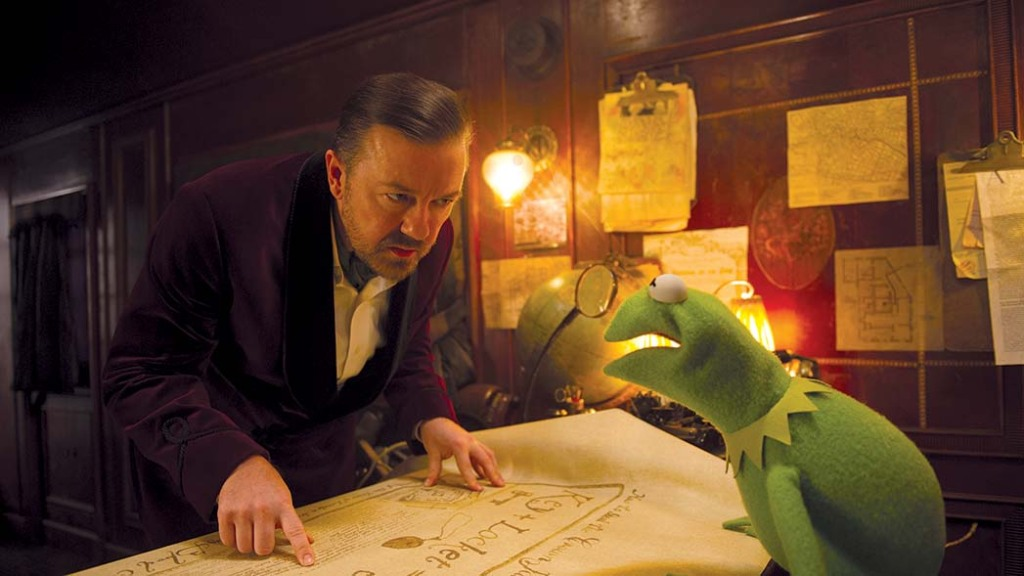"""The most recent film, """"Muppets Most Wanted"""" (2014), starring Ricky Gervais, earned a disappointing $80 million"""