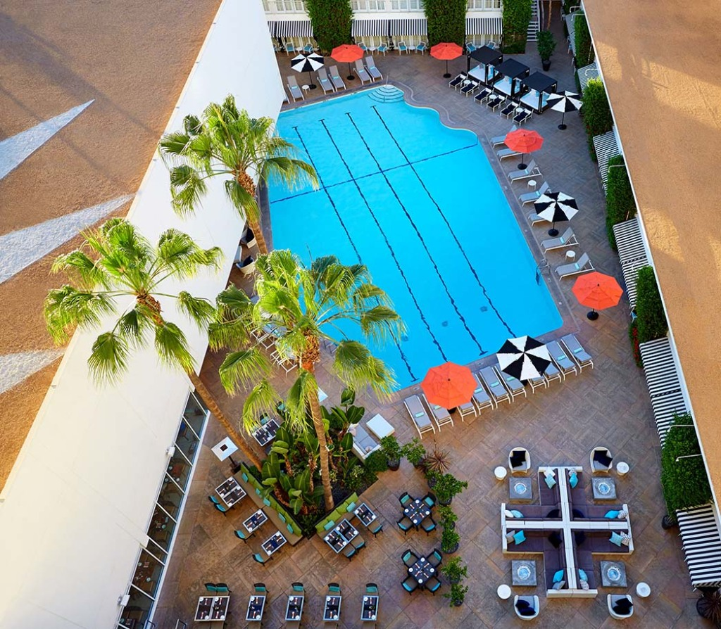 Pool at the Beverly HIlton.