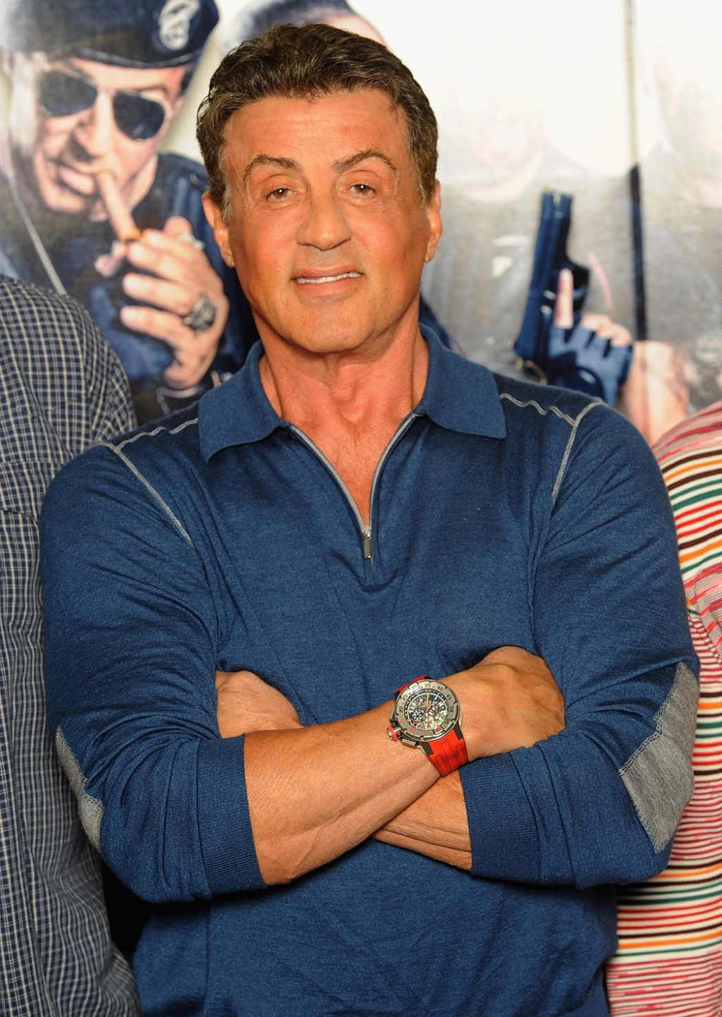 Stallone wearing the Panerai