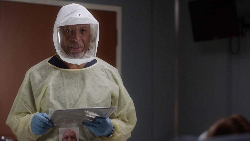James Pickens Jr. in PPE on 'Grey's Anatomy'
