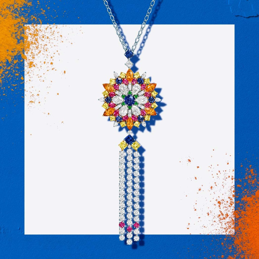 Harry Winston's new Sapphire Pendant in the Kaleidoscope Collection.