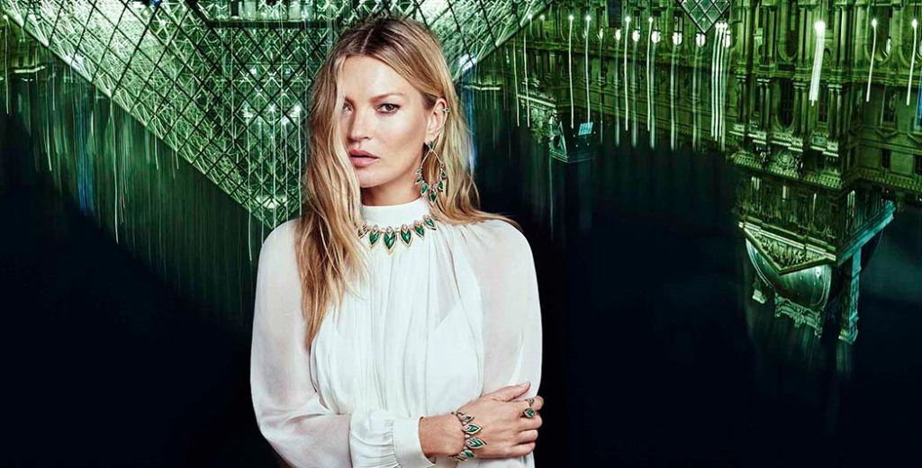 Model Kate Moss, who's partnered with Messika on a new collection