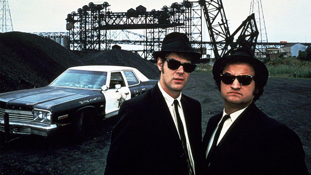 Dan Aykroyd, John Belushi in 'The Blues Brothers'.
