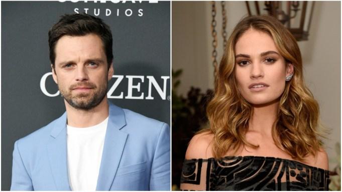 Sebastian Stan and Lily James