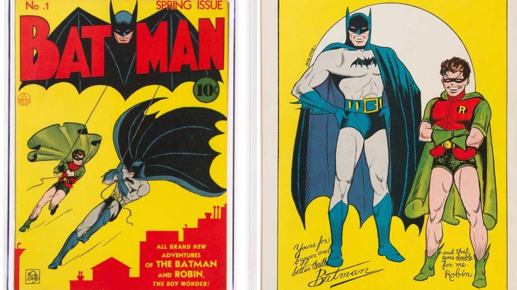 Batman #1 front and back cover split