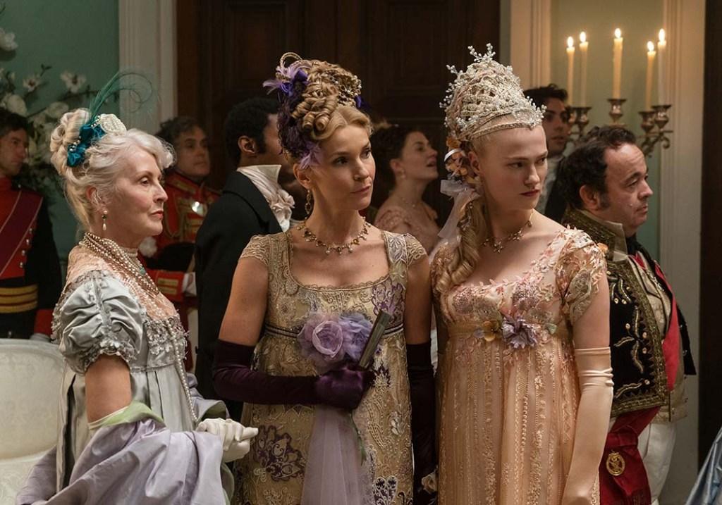 Joanna Bobin as Lady Copwer and Jessica Madsen as Cressida in episode 103 of 'Bridgerton.'