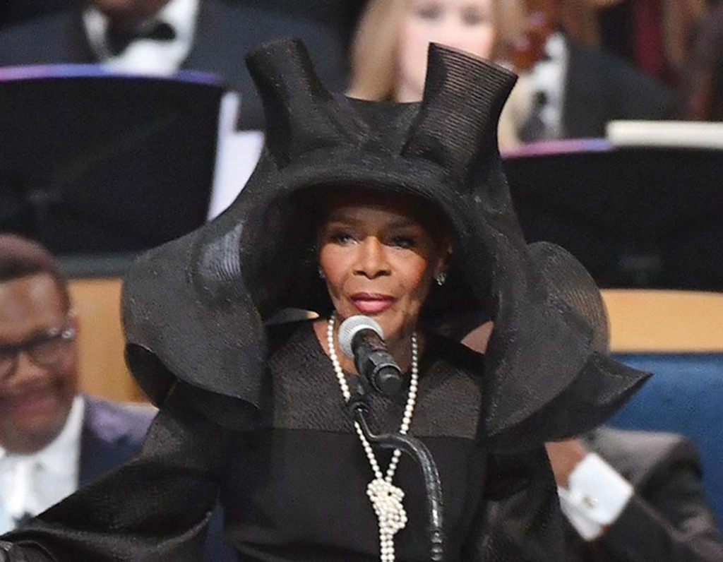 Tyson at Aretha Franklin's funeral.