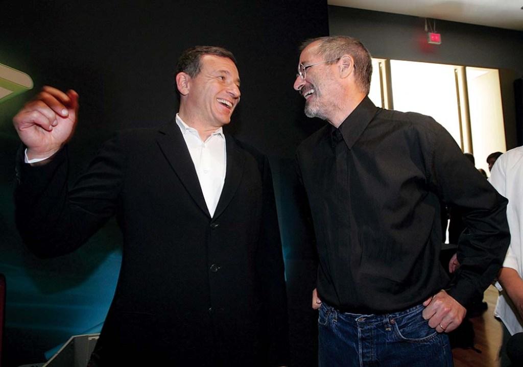 Walt Disney CEO Bob Iger and Steve Jobs