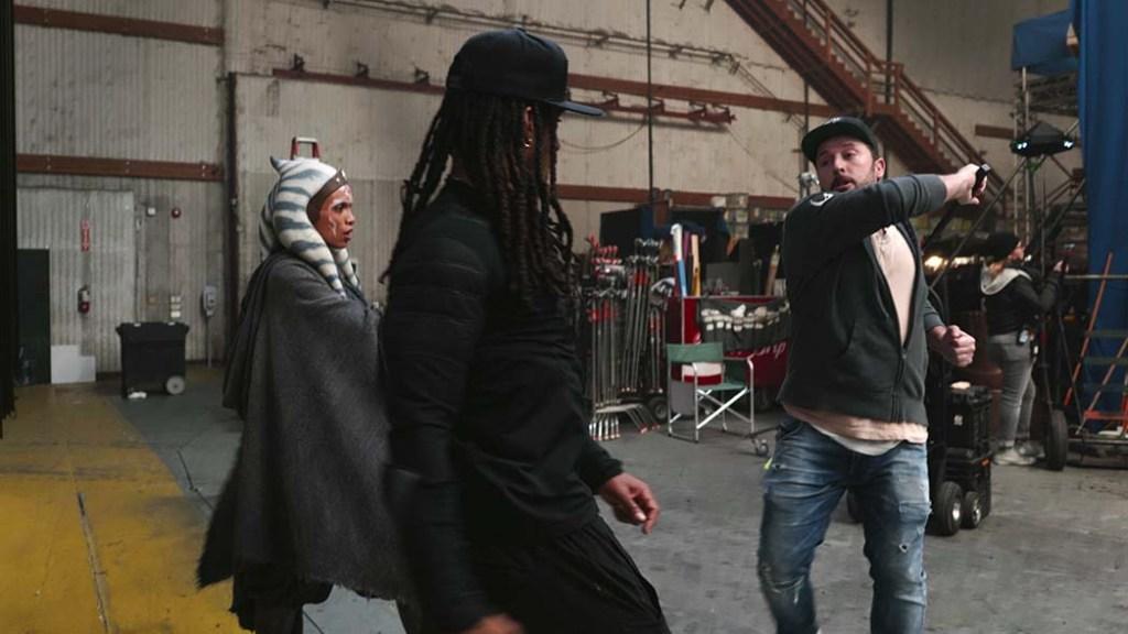RosarioDawson (left) training with Crowder and stunt coordinator Ryan Watson.