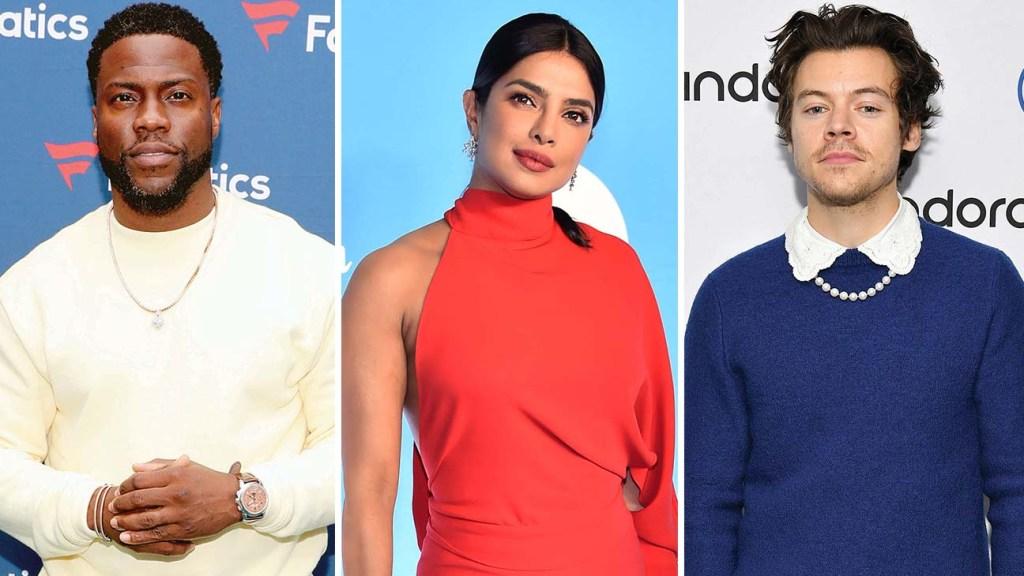 Kevin Hart, Priyanka Chopra and Harry Styles