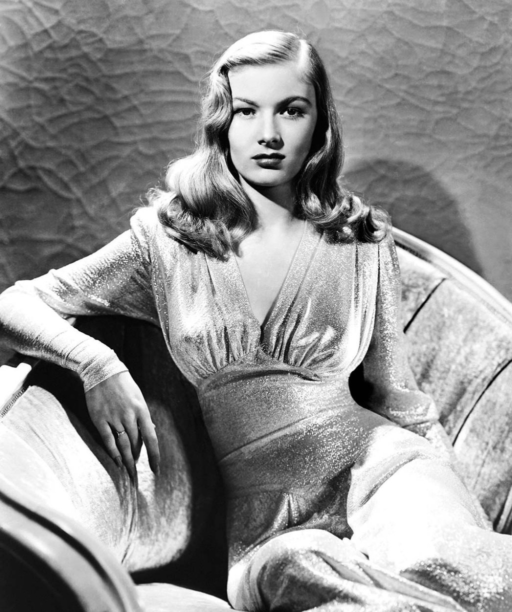 Veronica Lake, in a gown by Edith Head, in 'This Gun for Hire.'