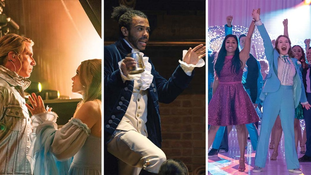 Will Ferrell and Rachel McAdams reach for the high notes in Eurovision Song Contest; Daveed Diggs as Lafayette in Hamilton; and Ariana DeBose and Jo Ellen Pellman in The Prom.