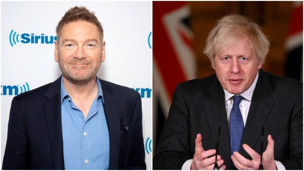 Kenneth Branagh and Boris Johnson
