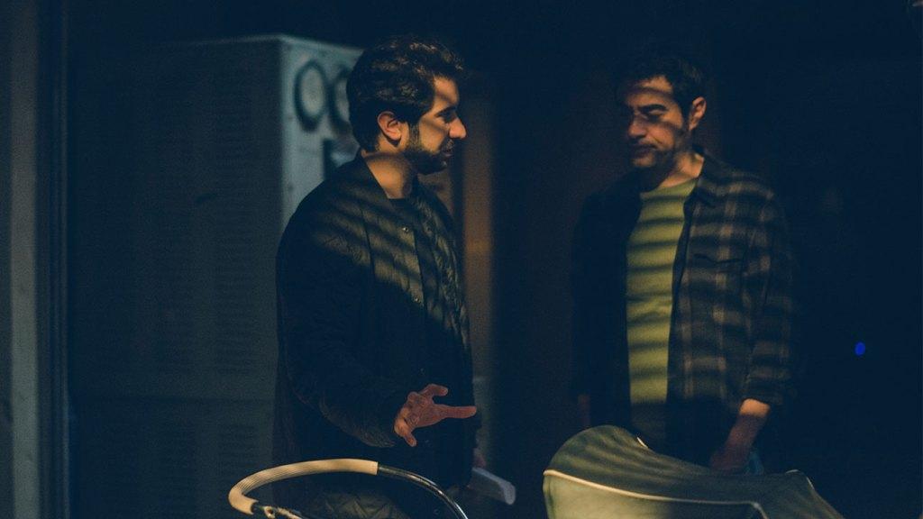 Kourosh Ahari and Shahab Hosseini on the set of 'The Night.'