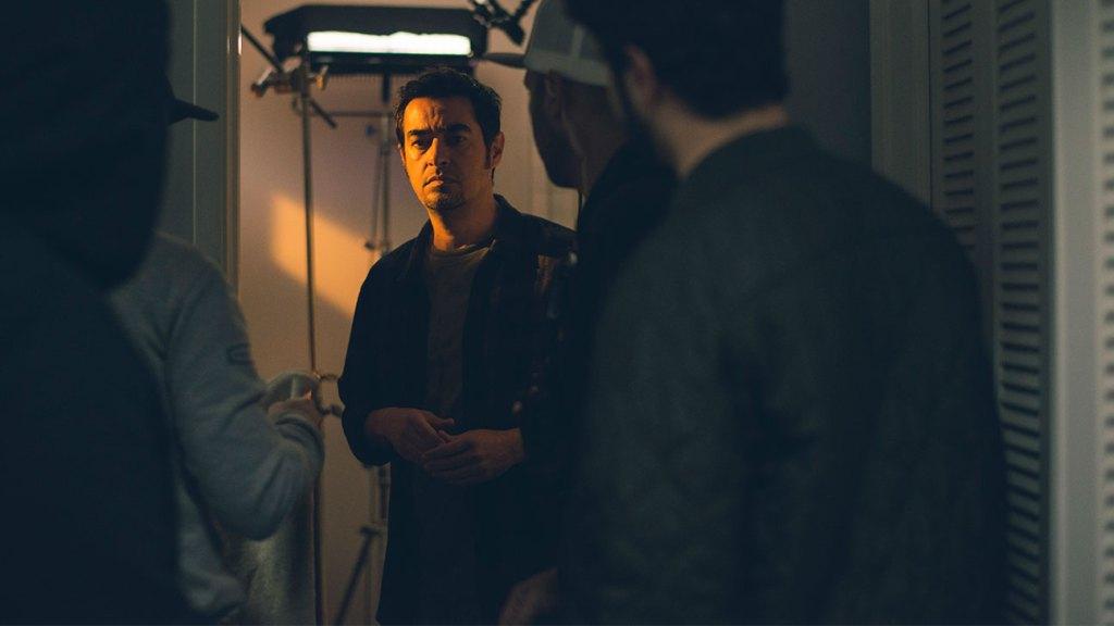 Shahab Hosseini on the set of 'The Night.'