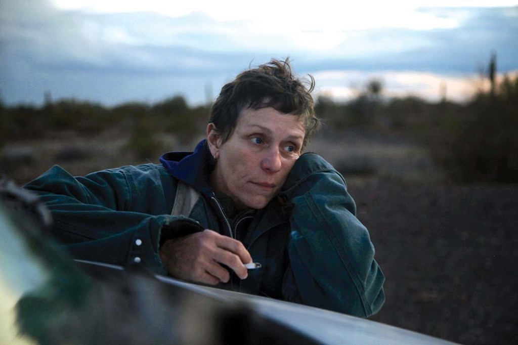 The unflappable McDormand, an Oscar winner for Fargo and Three Billboards Outside Ebbing, Missouri, whiled away the time waiting to film a nude scene in a creek by playing a game of travelScrabble.