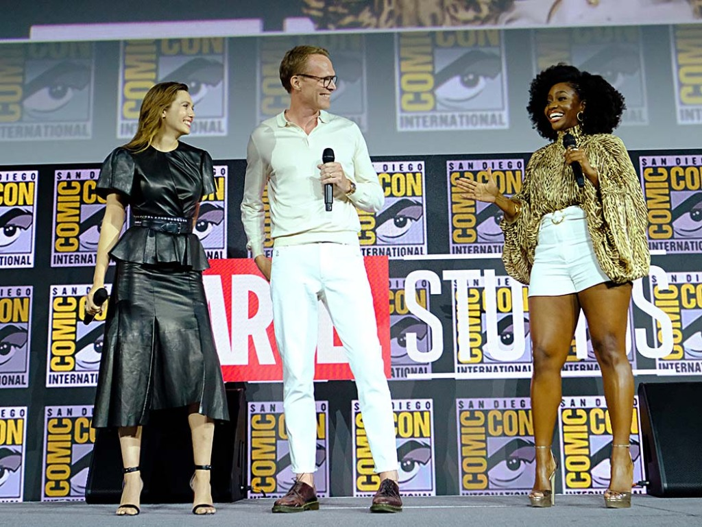 Elizabeth Olsen, Paul Bettany and Teyonah Parris
