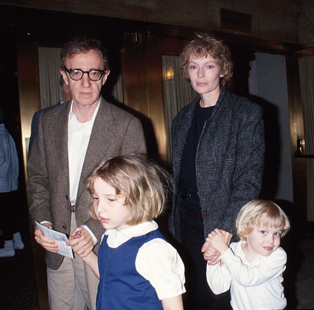 Woody Allen, Dylan Farrow, MiaFarrow and Ronan Farrow in the late-1980s.