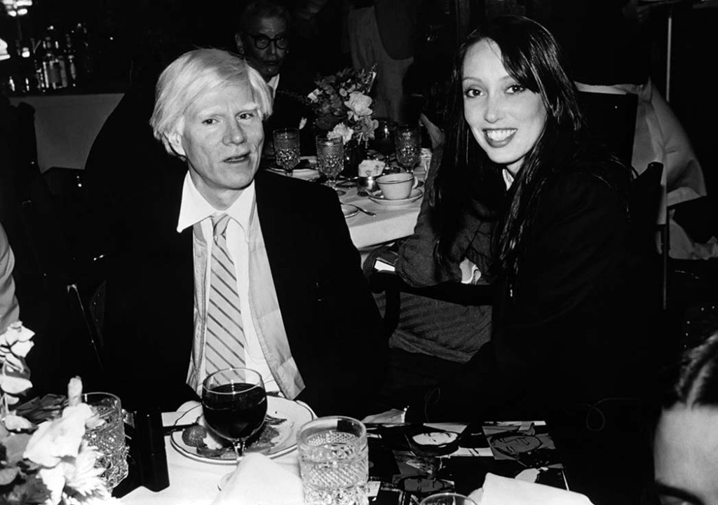 Andy Warhol and Duvall dined in New York City in the early 1980s.
