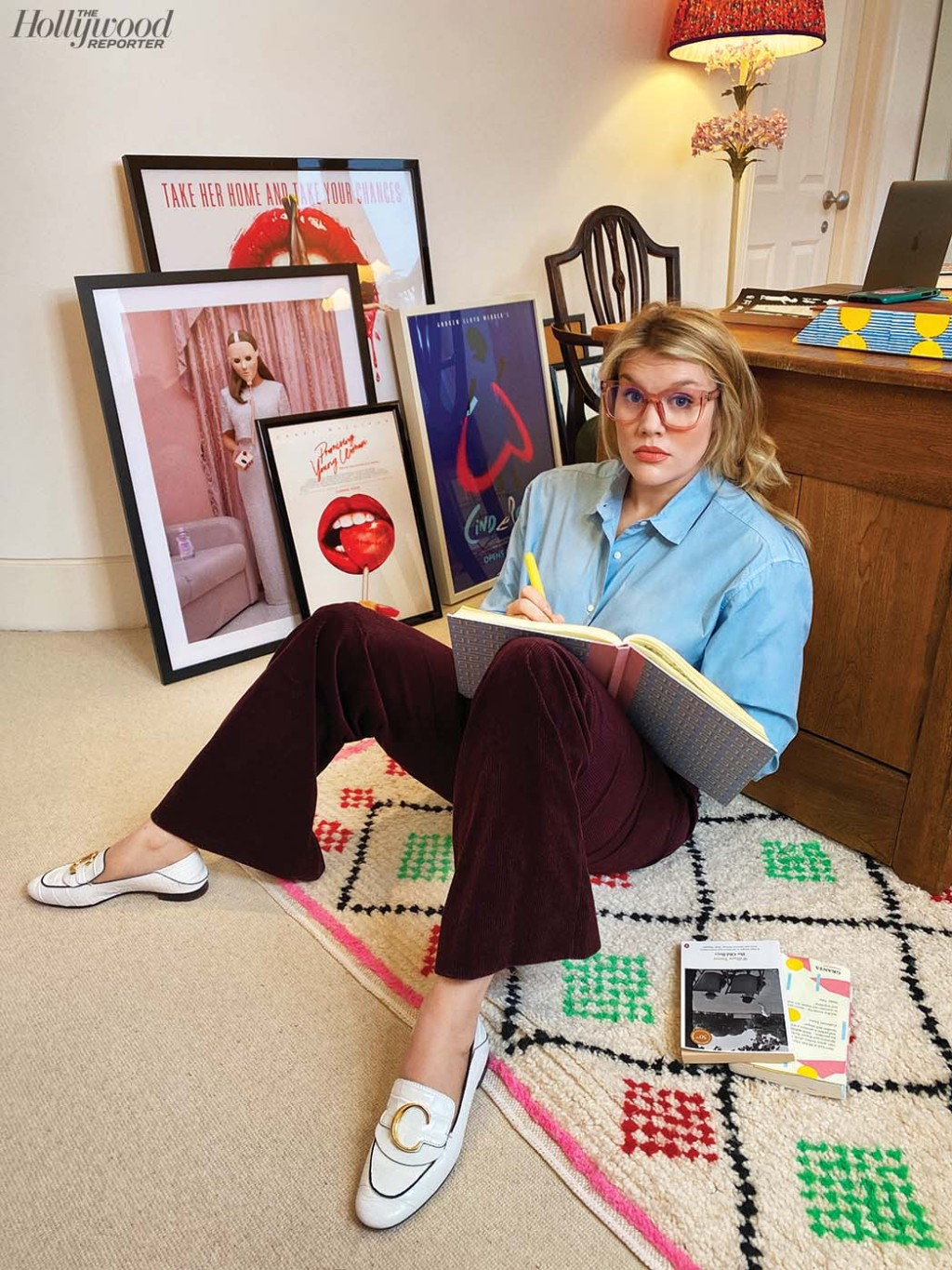 """""""I wanted to look at what happens when seduction culture isn't seduction culture, it's abuse — and also make it funny."""" Emerald Fennell was Photographed remotely by Sami Drasin on Jan. 8 in London."""