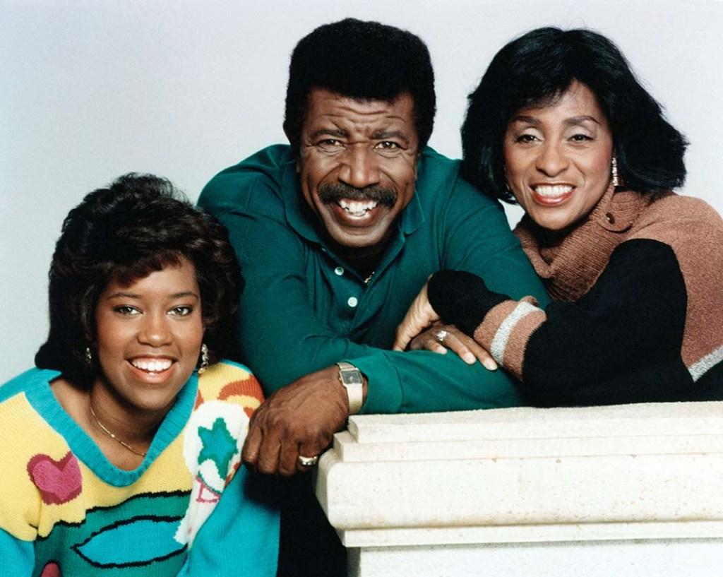 Regina King, Hal Williams, and Marla Gibbs in 227.