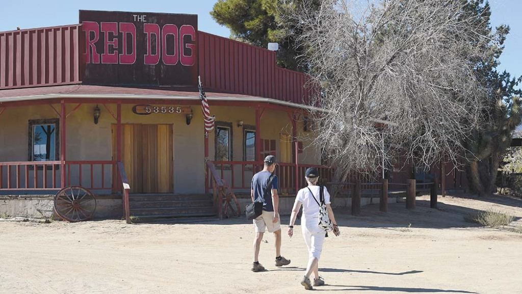 Right: Pioneertown's Red Dog Saloon opened in 1946 and reopened in 2020.