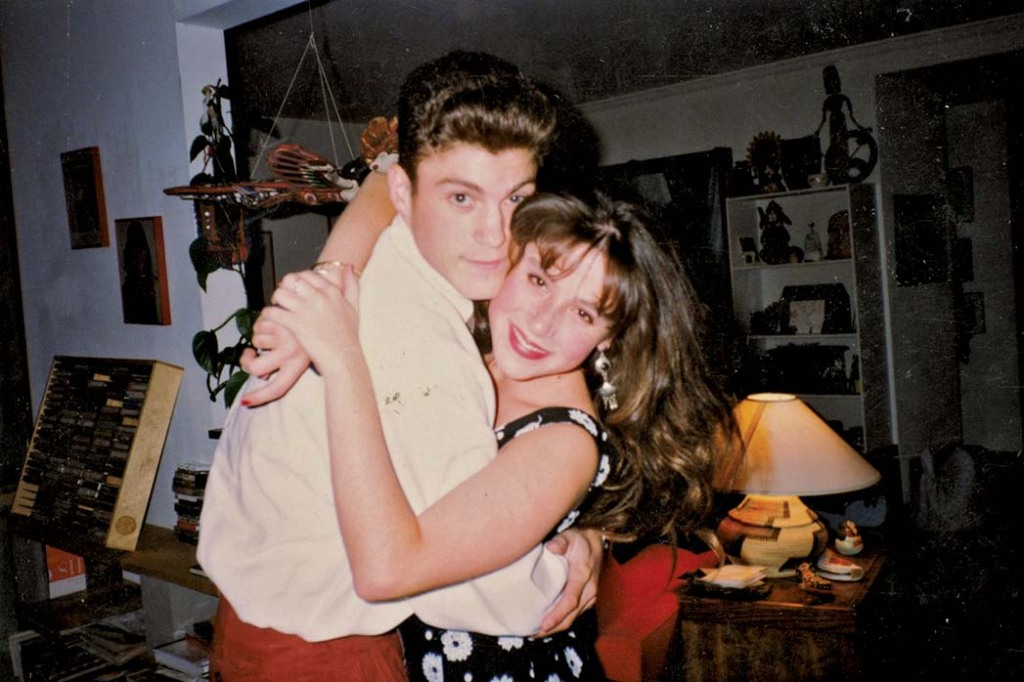 """Soleil Moon Frye with Brian Austin Green. She'd first met him at her 12th birthday party, in 1988. """"Johnny Depp was there. My publicist at the time, Jack, brought all of these people together,"""" she recalls."""