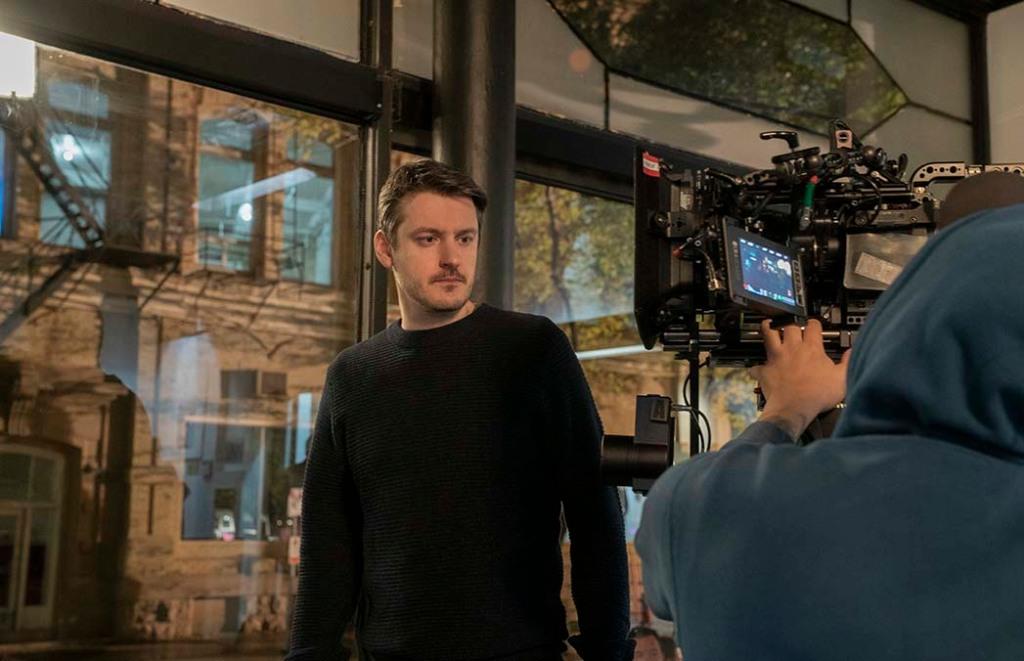 Director Ilya Naishuller on the set of Nobody.