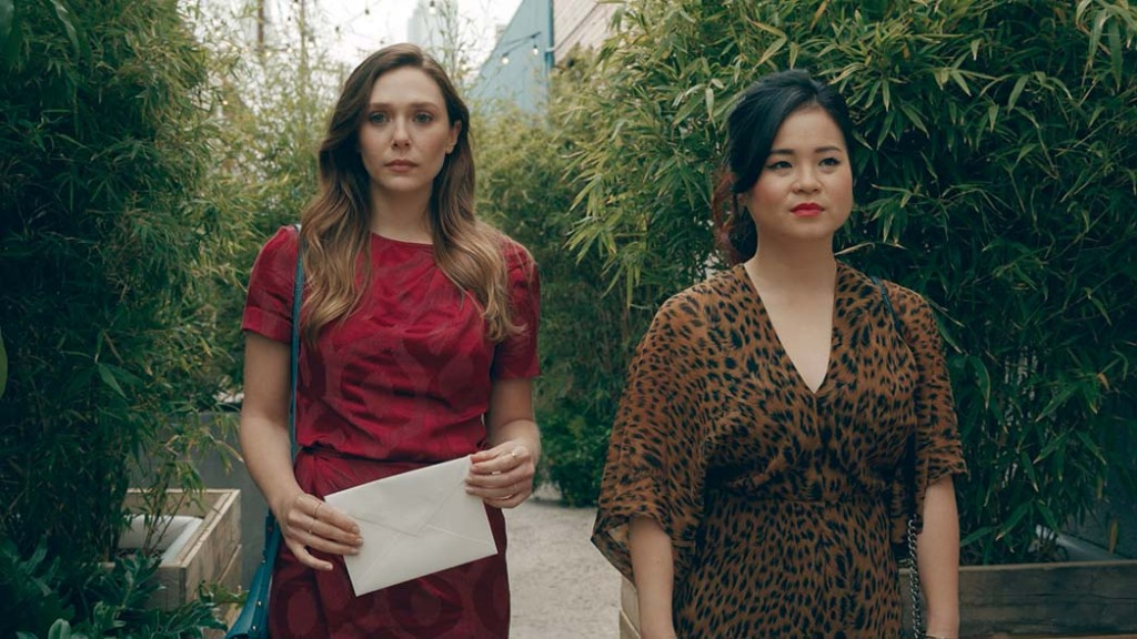 Tran played the adopted sister of Elizabeth Olsen (left) in Facebook Watch's Sorry for Your Loss.