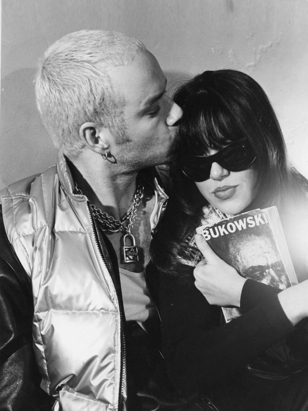 """""""We were best friends who had deep love for each other,"""" she explains of a relationship with House of Pain hip-hop star Danny Boy O'Connor, seen in a photo taken at her brother Meeno Peluce's apartment on La Brea Avenue circa 1995. """"He and [poet Charles] Bukowski were my two favorite things at that time."""""""