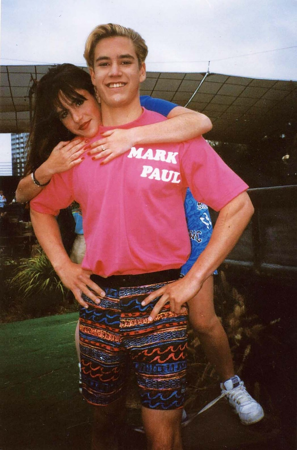 """With Mark-Paul Gosselaar, who appeared on Punky Brewster before Saved by the Bell. """"He was always so kind to me,"""" she says."""