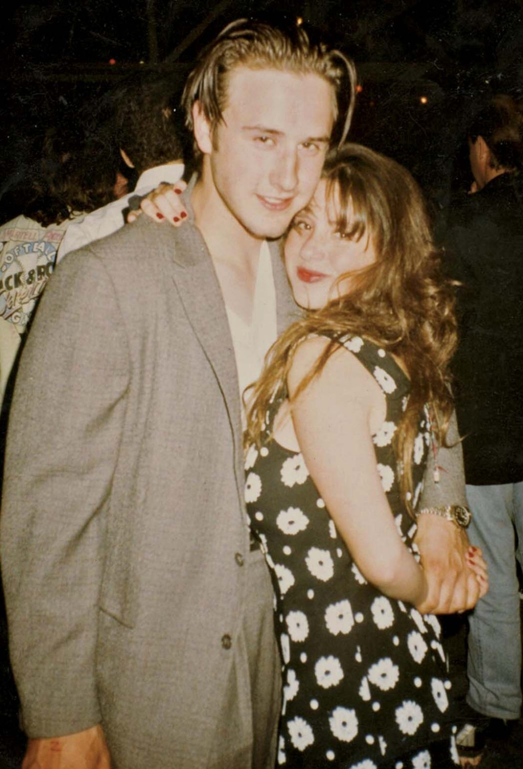 With David Arquette in the '90s.