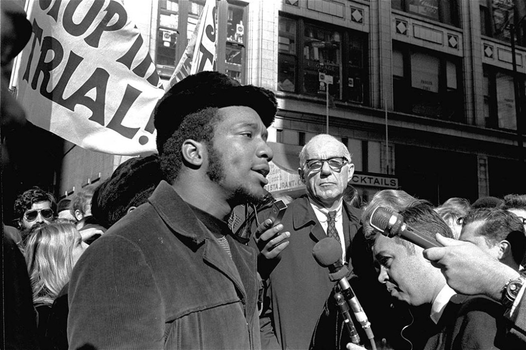 The real Fred Hampton, speaking at a rally in Chicago in 1969.