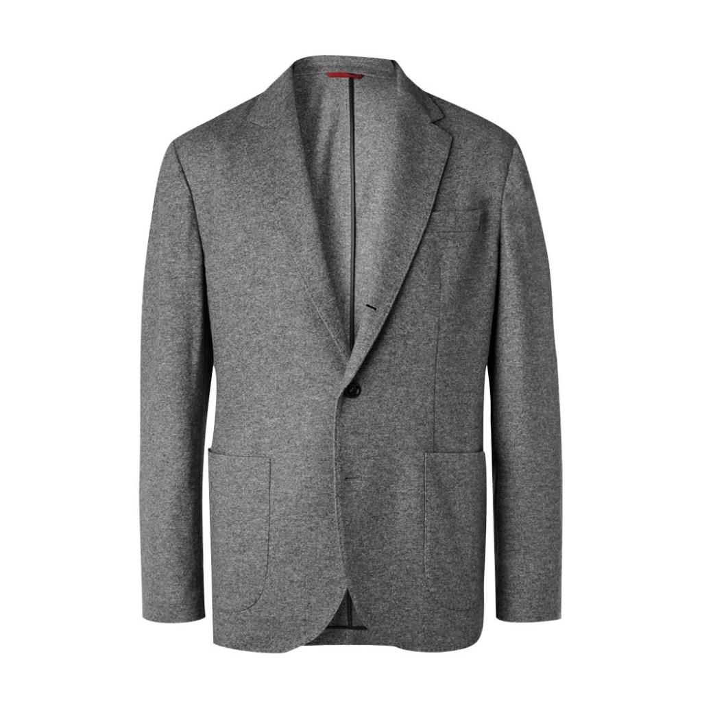 Brunello Cucinelli's gently structured cashmere-jersey jacket; $3,495, mrporter.com